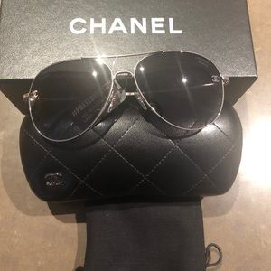 Brand New Chanel Pilot Aviator Sunglasse